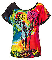 Cold Heart Tree Of Life Baggy Top (Multi Coloured)
