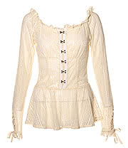 Jawbreaker Steampunk Lace Shirt (Cream)