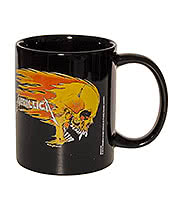 Metallica Flaming Skull Mug (Black)