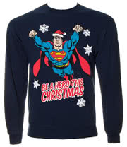 Superman Xmas Hero Sweatshirt (Navy)