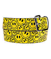 Blue Banana Smiley Faces Belt (Yellow/Black)