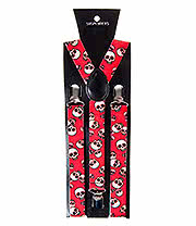 Blue Banana Skulls Braces (Red)