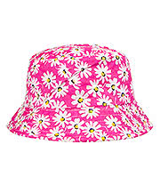 Blue Banana Daisy Canvas Bucket Hat (Pink)