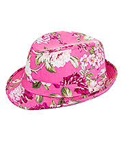 Blue Banana Flowers Trilby Hat (Pink)