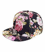 Blue Banana Flower Snapback (Black)