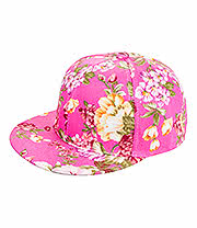 Blue Banana Flower Snapback (Pink)