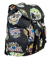 Blue Banana Skull Backpack (Black)