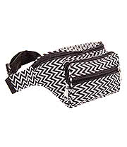 Blue Banana Zig Zag Bum Bag (Black/White)