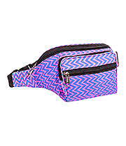 Blue Banana Zig Zag Bum Bag (Electric Pink/Blue)