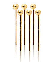 Blue Banana 1.8mm Gold Plate Nose Stud Ball (6 Piece)