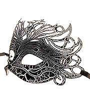 Blue Banana Venetian Mask (Black/White)