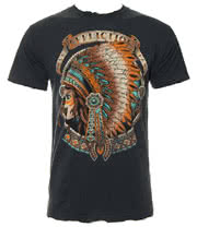 Affliction Heavy Feather T Shirt (Charcoal)