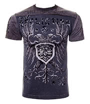 Affliction American Custom Agitator T Shirt (Lava Wash Black)