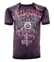 Affliction Custom Secure T Shirt (Charcoal)