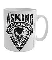 Asking Alexandria Skull Shield Mug (White)
