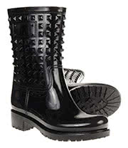 Blue Banana Short Studded Wellies (Black)