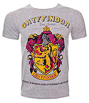 Harry Potter Gryffindor T Shirt (Grey)
