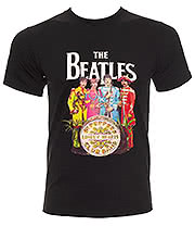 The Beatles Sgt Pepper T Shirt (Black)