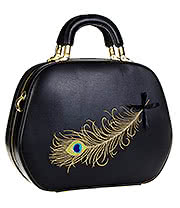 Banned No Trace Peacock Bag (Black)
