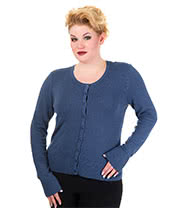 Banned Indigo Plus Size Cardigan (Blue)