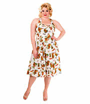 Banned Dreamer Tiki Plus Size Dress (White)
