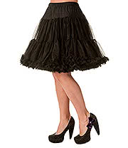 "Banned Walkabout 20"" Petticoat (Black)"