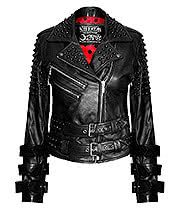 Killstar Buckled Leather Jacket (Black)