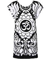 Killstar OM Tunic Dress (Black/White)