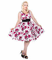 H&R Floral 9026 Dress (Pink/White)