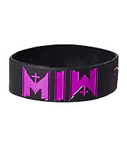 Motionless In White Logo Wristband (Black/Purple)
