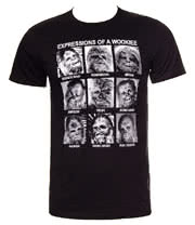 Star Wars Wookiee Expressions T Shirt (Black)