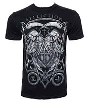 Affliction Custom Death Time T Shirt (Black)