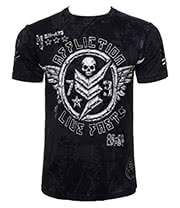 Affliction American Clothing Compound T Shirt (Black)