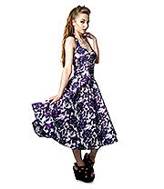 Rockabella Annabella Flower Halterneck Dress (Purple)