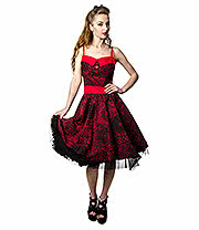 Rockabella Lois Bandana Dress (Red)
