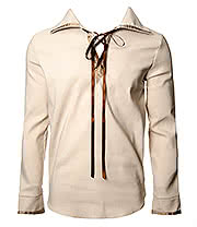 Golden Steampunk Dartagnan Lace Up Shirt (Cream)