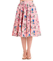Hell Bunny Lacey '50s Skirt (Pink)