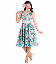 Hell Bunny Lacey 50's Dress (Aqua)
