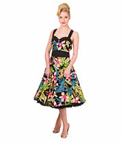 Banned Tropical Floral Dress