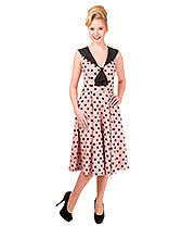 Banned Rival Polka Dress (Pink/Black)
