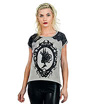Too Fast Octopus Cameo T Shirt (Black)