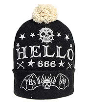 Too Fast Skelly Quija Bobble Hat (Black)