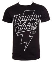 Mayday Parade Lightning Bolt T Shirt (Black)