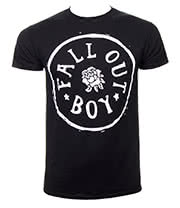Fall Out Boy Rose Stamp T Shirt (Black)