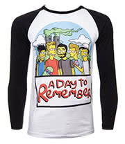 A Day To Remember Simpsons Baseball Tee (Multi)