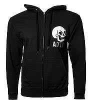 A Day To Remember Hourglass Zip Up Hoodie (Black)