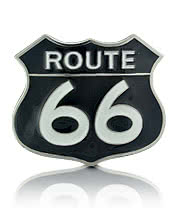 Blue Banana Route 66 Belt Buckle (Black)