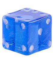 Blue Banana UV 4mm Dice (Blue)