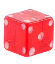 Blue Banana UV 4mm Dice (Red)