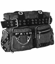 Jawbreaker Striped Handbag (Black/White)
